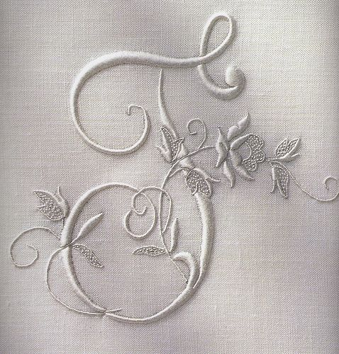 Embroidered initial | Flickr - Photo Sharing!