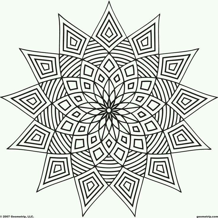 54 best // arTErapia: geometría // images on Pinterest | Coloring ...