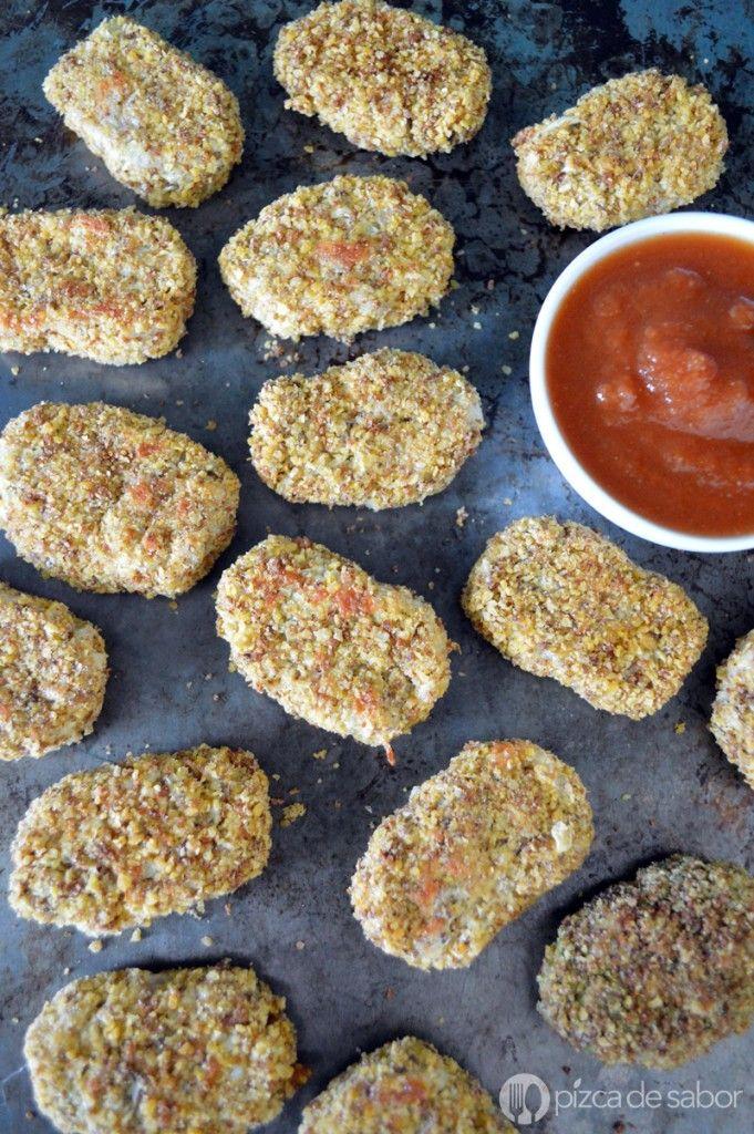 Nuggets de coliflor | http://www.pizcadesabor.com/2015/04/27/nuggets-de-coliflor/