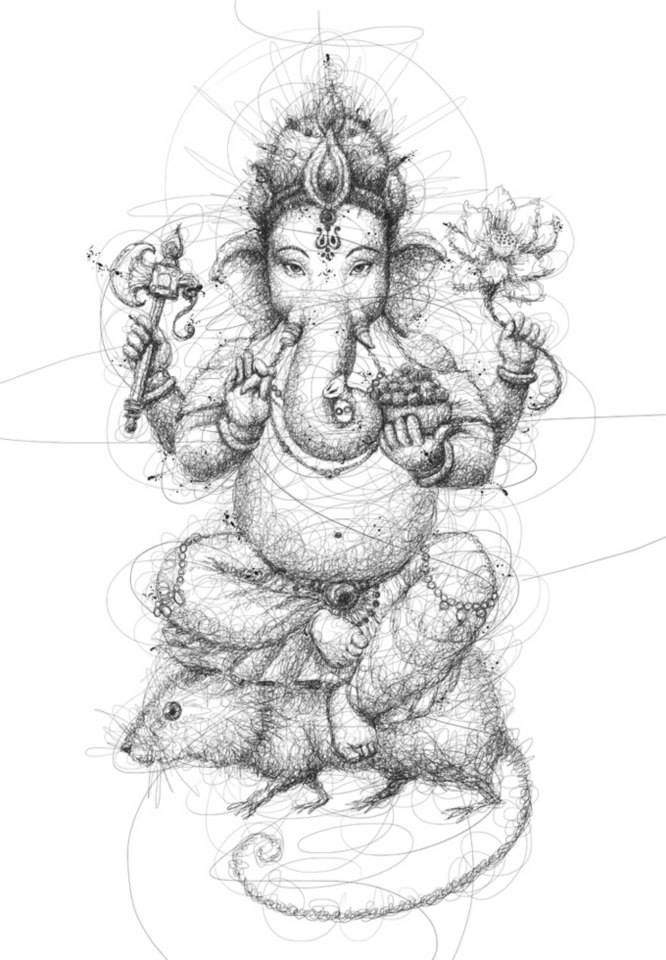 "Oeuvre by Vince Low - Le Dieu ""Jai Ganesha"""