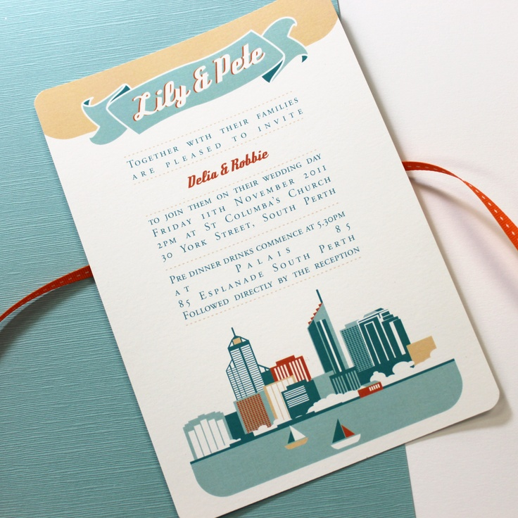 17 best images about your wedding stationery on pinterest Wedding Invitations South Perth felicitations perth city skyline wedding invitation South Perth Map