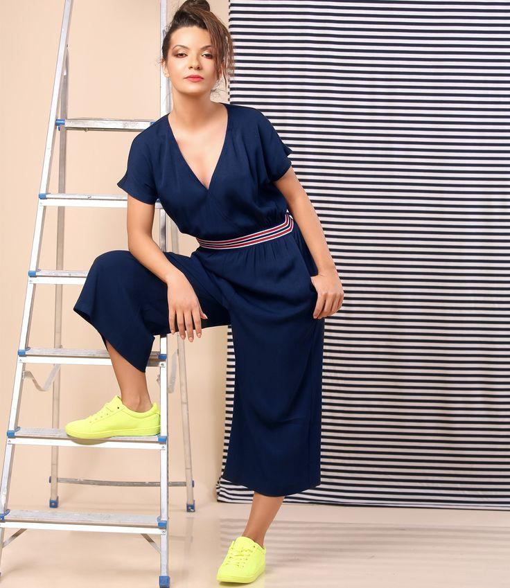 OVERALL   Summer's big trend Summer 17   YOKKO #casual #viscose #overall #woman #fashion #style #summer17 #madeinromania