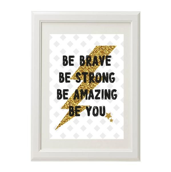 INSPRIATIONAL MOTIVATIONAL PERSONALISED BEAR PRINT WALL ART PICTURE