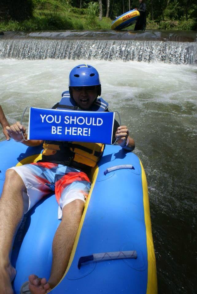 Bali tubing rafting.