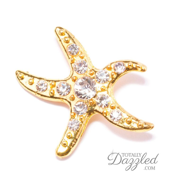 GOLD RHINESTONE STARFISH BUCKLE 313 G