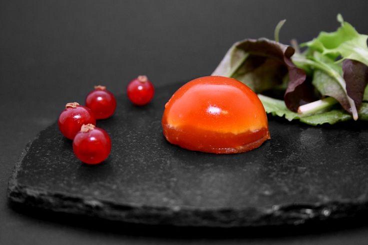 tomate mozza façon cuisine moléculaire