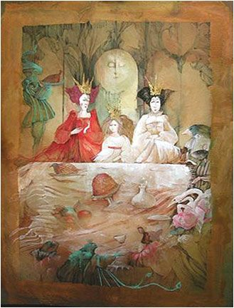 """Three Queens"" dans ""Alice's Aventures in Wonderland"" de Lewis Carroll"