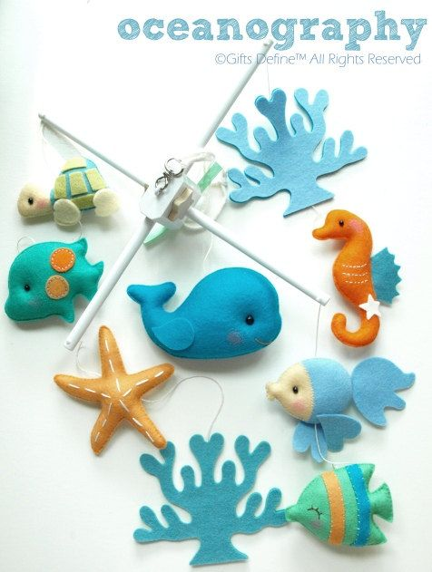 Musical Baby Mobile OCEANOGRAPHY Under the Sea in by GiftsDefine