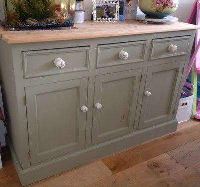 Beautiful wooden pine sideboard cupboard vintage refurb project shabby chic