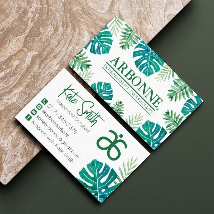 Tropical Arbonne Business Card Personalized Arbonne Business Card Arbonne Ab03 By Kdesigndigital Arbonne Business Cards Arbonne Business Business Card Design