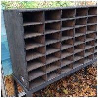 Industrial Pigeon Hole Unit | mayflyvintage.co.uk | Warehouse Home Design Magazine