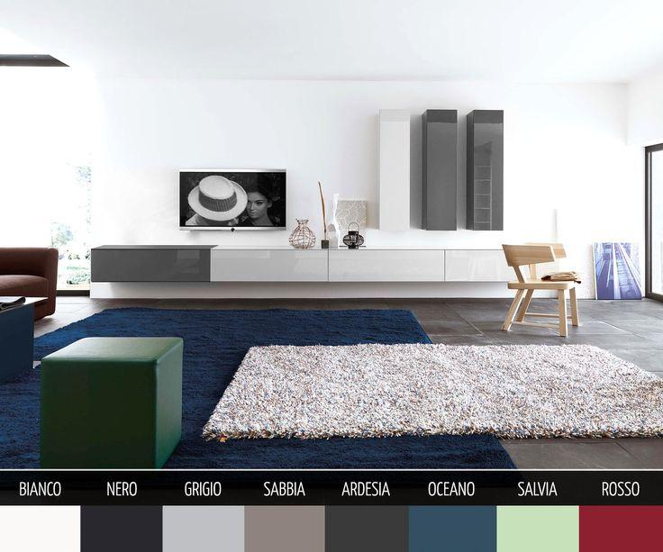 TV Wall Mounted Furniture Configurator for stunning Interior Design -  Wunderschönes Box Lowboard in Hochglanz oder Matt für die Wandmontage in 8 Farben und 4 Breiten. Einfach Konfigurieren.