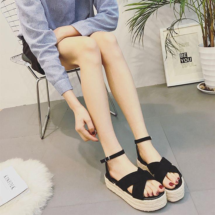 """✳ ✳ ✳ $29.50,  Women's Espadrilles Wedges Ankle Strap Sandals Use code """"LADYSTO"""" to get 15% OFF & one FREE chic socks. from @ladystoofficial.... ✳ ✳ ✳ Macys Boots Green For Wide Feet Yarns Frye Boots Size 10 Jean Jackets Yeezy Toms Brown Boots H&m Weight Loss Walking Michael Kors Polka Dots Work Wear Hot Scarfs Sketchers Cocktail Dresses Black Gold Necklace Flats Gym Bags Long Skirts Polyvore Models Ecco Shoes Blouses Jogger Pants For Summer Flat Curvy Knit ✳ ✳ ✳ @ladystoofficial #ladysto"""
