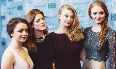 Maisie Williams, Rose Leslie, Natalie Dormer, & Sophie Turner.