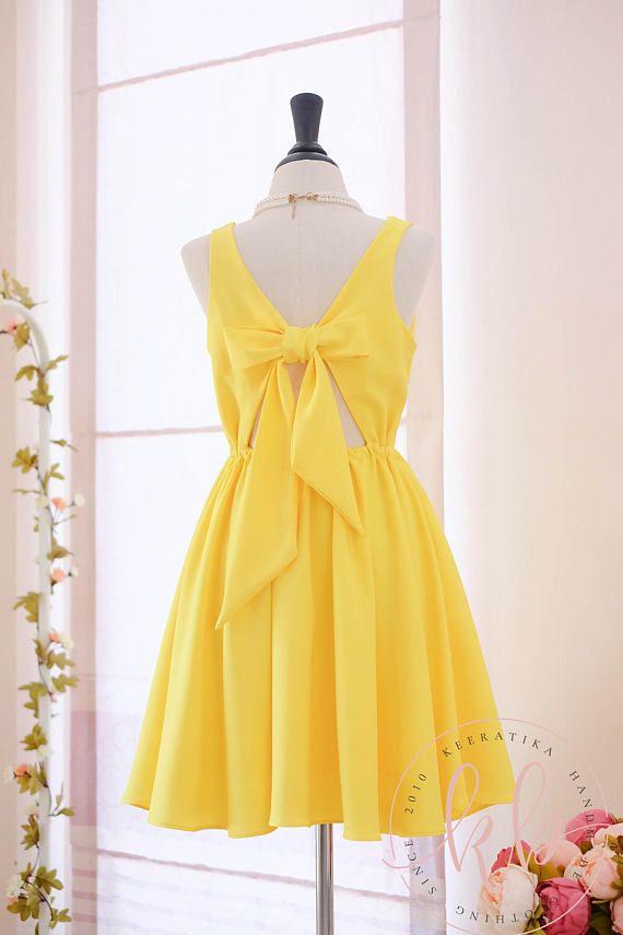 Yellow dress Bright yellow dress yellow party dress yellow
