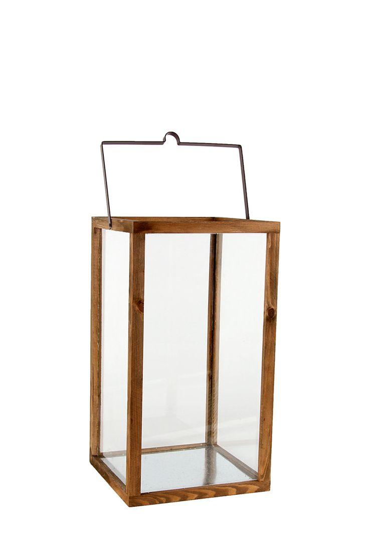 Wood And Glass Urban Lantern| Mrphome Online Shopping