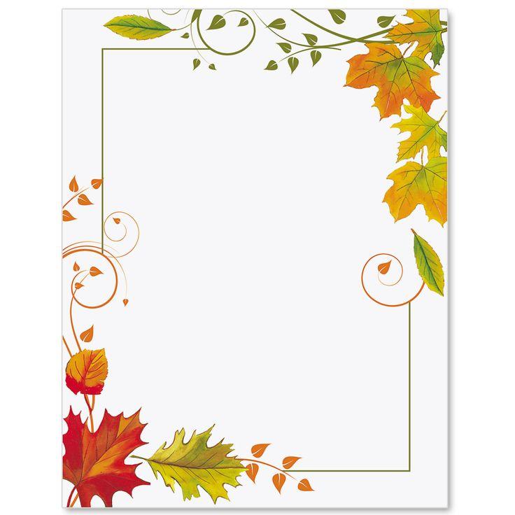 Fall Freshness Border Papers | PaperDirect's | Borders for ...