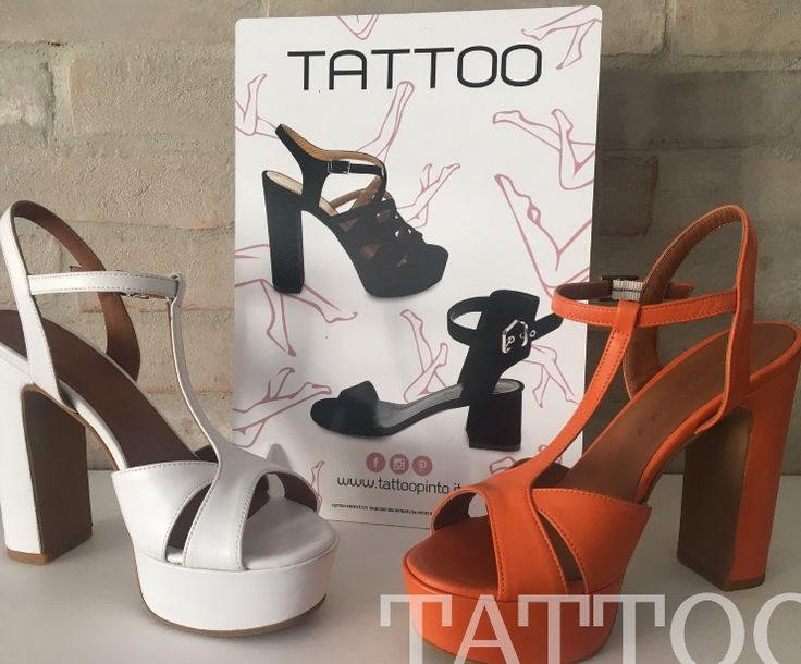 COLLEZIONE TATTOO P/E  #tattoocollection #pintocollection  Comodi e bellissimi tacchi per la tua estete ☀️ beautiful heels for your summer #whiteshoes #orangeshoes #scarpebianche #scarpearancioni Info --> www.tattoopinto.it