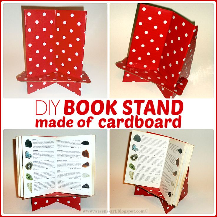 DIY Book Stand made of cardboard