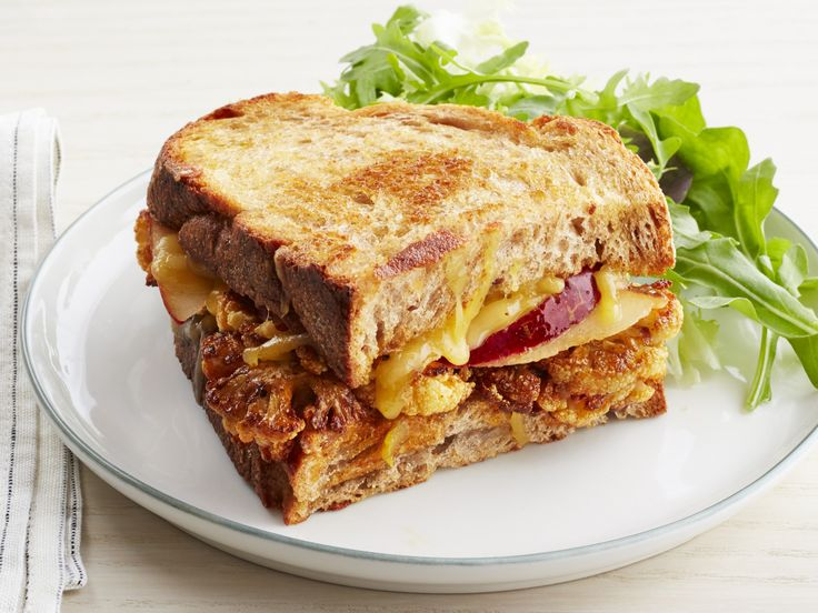 Cauliflower Melt recipe from Jeff Mauro via Food Network with cauliflower, pears and cheese