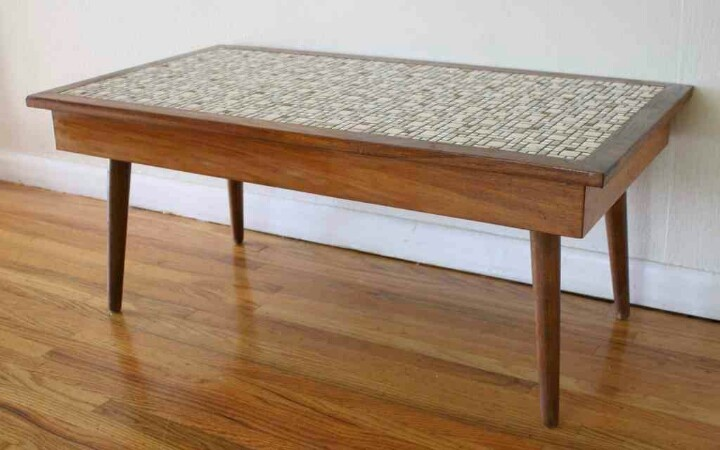 Tile top coffee table furniture pinterest for Tile coffee table