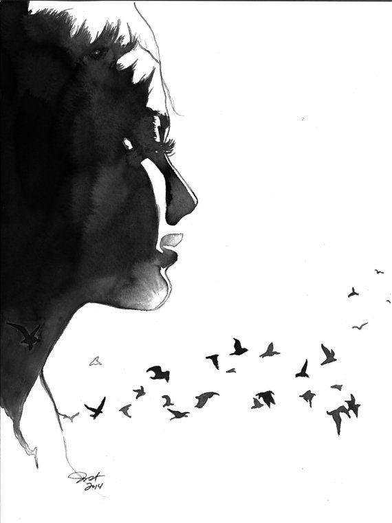 Pájaro libre impresión de la ilustración por JessicaIllustration