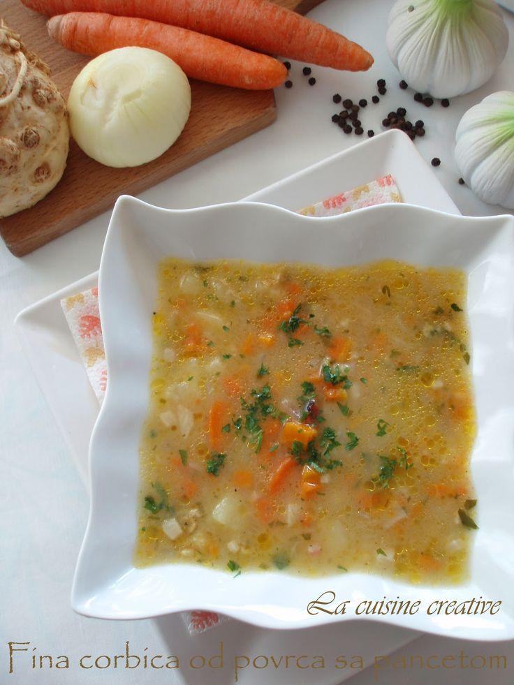 La cuisine creative: Fina corbica od povrca sa pancetom