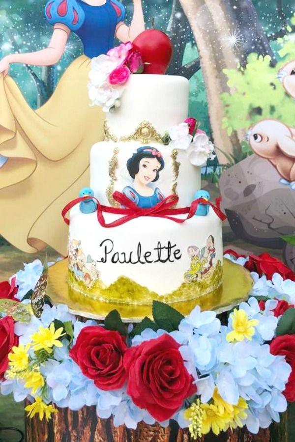 Snow White Birthday Cake Snow White Birthday Party Snow White Birthday White Birthday Cakes