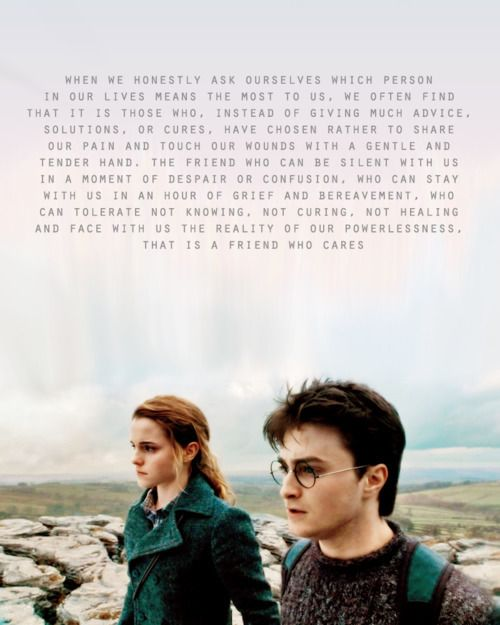 This defines Harry and Hermione's relationship perfectly <3