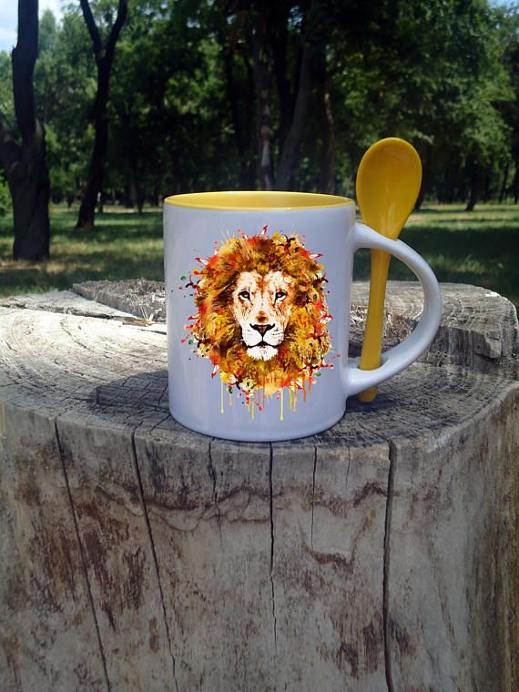 Lion mug gift for son pet lover gift for sister boyfriend gift