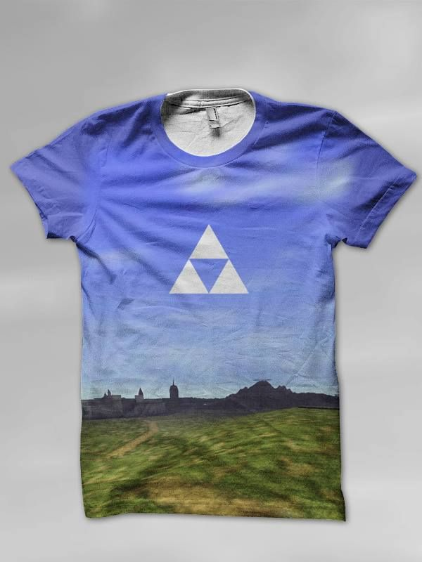 Designed a Zelda Shirt featuring Hyrule Field from OOT.