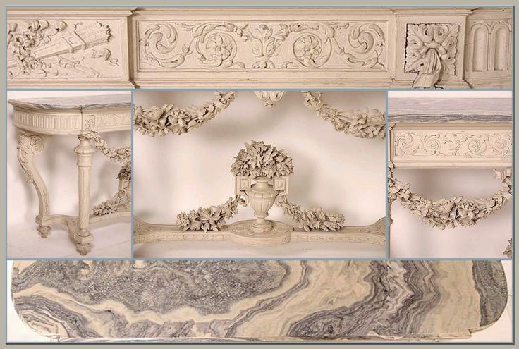 Antique Louis XVI Console Details