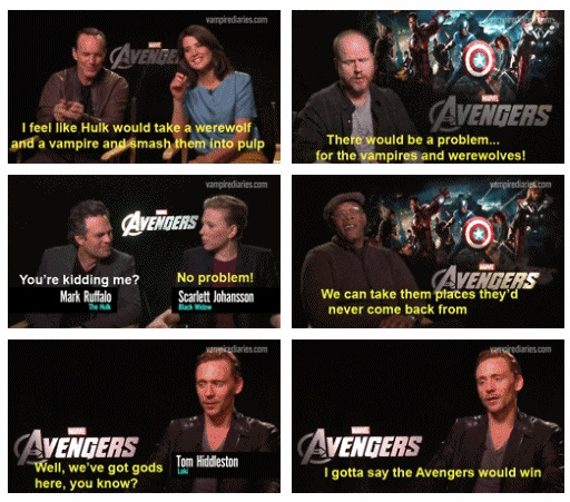 """""""How would the Avengers fare against vampires and werewolves?"""" Sam's answer seems rather sinister..."""