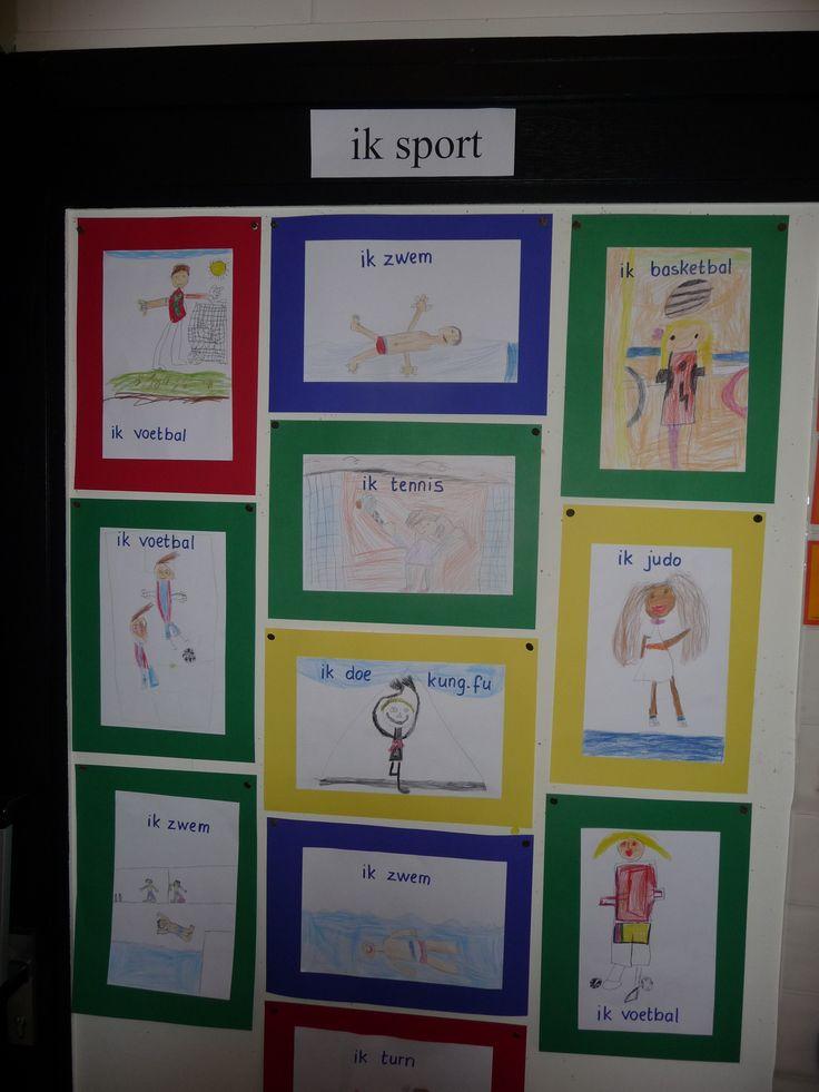 Map juf Ineke, thema sport: IK sport.
