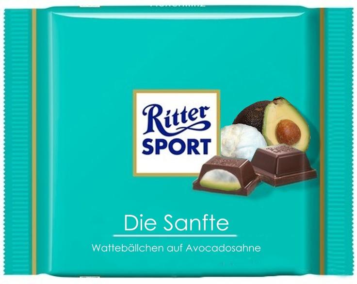 RITTER SPORT Fake Schokolade Die Sanfte
