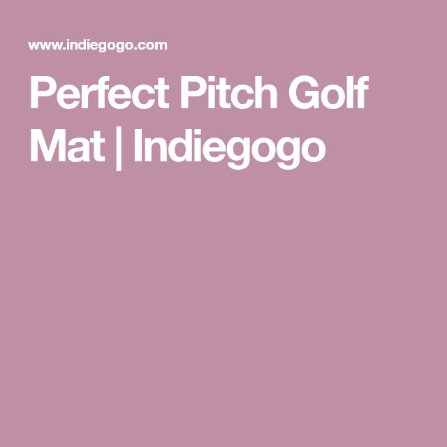 Perfect Pitch Golf Mat | Indiegogo