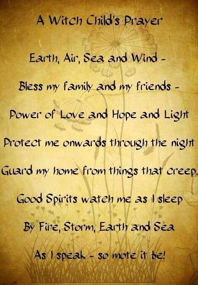 A witch child's prayer