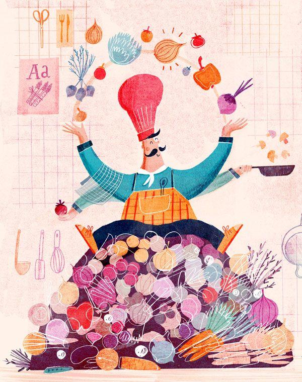 Jamie Oliver Magazine - Cathrine Finnema illustration