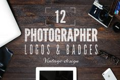 Retro Photography Badges Set by Jekson Graphics on Creative Market