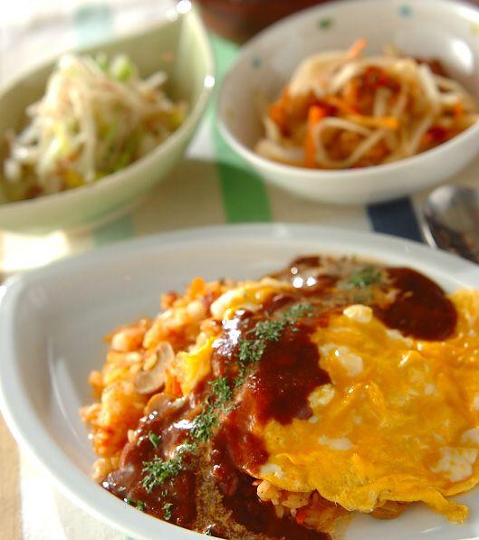 「オムライス」の献立・レシピ - 【E・レシピ】料理のプロが作る簡単レシピ/2010.01.27公開の献立です。