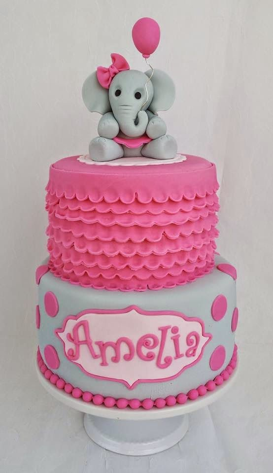 Awesome Elephant Baby Shower Cake