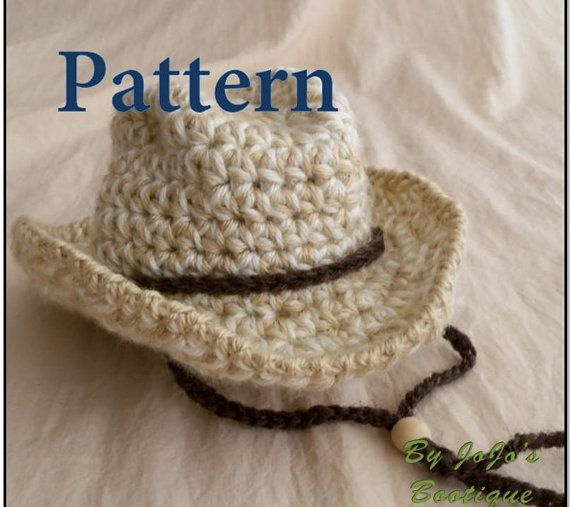 PDF Baby Cowboy Hat PATTERN Baby Cowboy Hat  by JojosBootique, $5.75