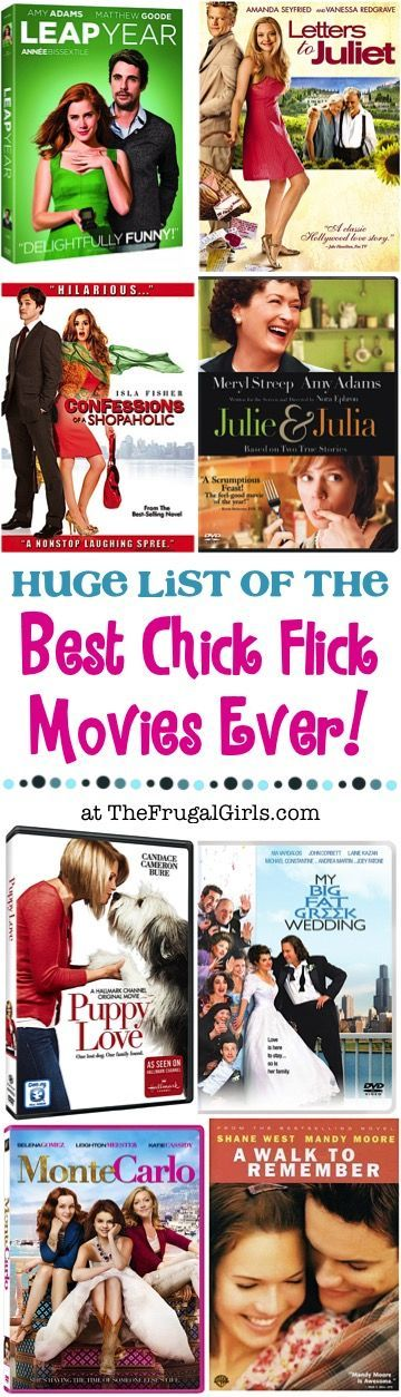 Best Chick Flicks of all Time! HUGE list of fun chick flick movies to cozy up on the couch with! | TheFrugalGirls.com