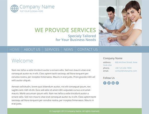 Template 003: Archis  Create free website  Great website template for blog or business