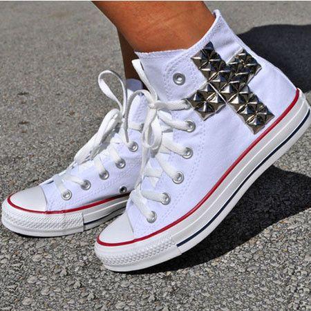 High Help Leisure Cross Rivet Canvas Sneakers Shoes