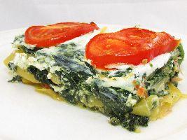 Voedselzandloper-proof, zonder pasta-balderen: Lasagne van koolraap met spinazie, zalm en ricotta.