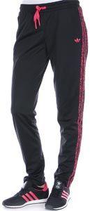 Adidas leopard supergirl tt w jacke schwarz pink