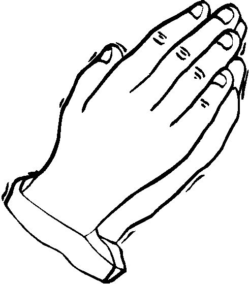 Praying Hands Coloring Pages For Kids