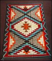 Navajo Rugs (Dalton's) - Love the turquoise & orange (pantone!)