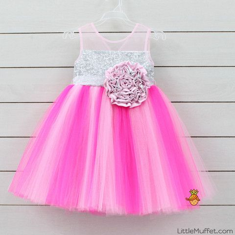 Shaded Pink Tutu Dress - Infant, Toddler & Girls